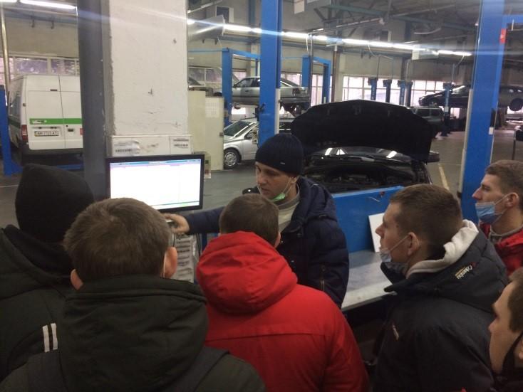 Студенти групи Ат-2бстн проходять виробничу практику на ПрАТ «Житомир-Авто»